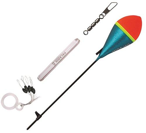 Paladin Forellen Set - Bomb Schlepp-Pose + Dreifachwirbel + Glasgewicht + Stopper, Angelset zum Forellenangeln am Forellensee, Tragkraft:4g