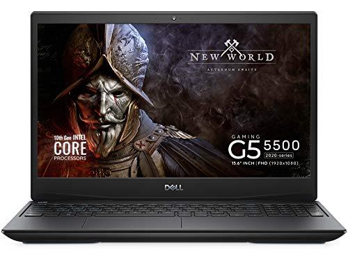 Notebook Gamer Dell G5 Intel i7-10750H, 10º Geração NVIDIA GTX 1650Ti, 32GB RAM DDR4, 1TB PCIe SDD, HDMI, WiFi, teclado retroiluminado, Tela FHD 15.6', Windows 10, Preto