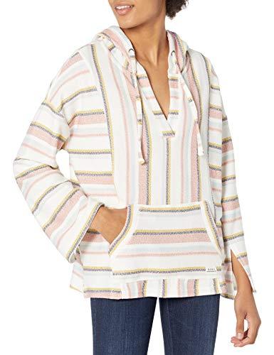 Roxy Herren Island Vibes Pullover Poncho Hoodie Kapuzenpulli, Schneewittchen orientalische Streifen, Large