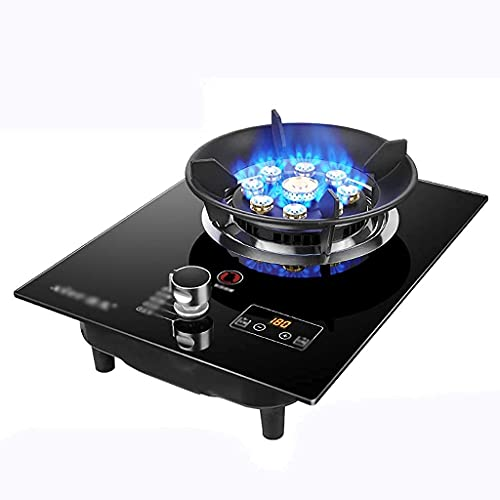 New Gas Cooker, Portable Gas Stove,Gas Hob Cooker Desktop Gas Stove, Built-in Gas Hob/Cooker/Cooktop ,1 Cast Iron Portable Hob Ring ,with Temperature Control And Flame Failure Protection [Energy Class