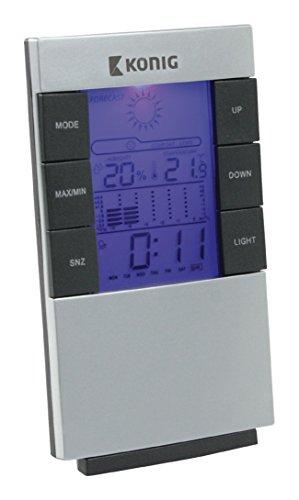 König KN-WS101N LCD-Uhr und Wetterstation, mehrfarbig