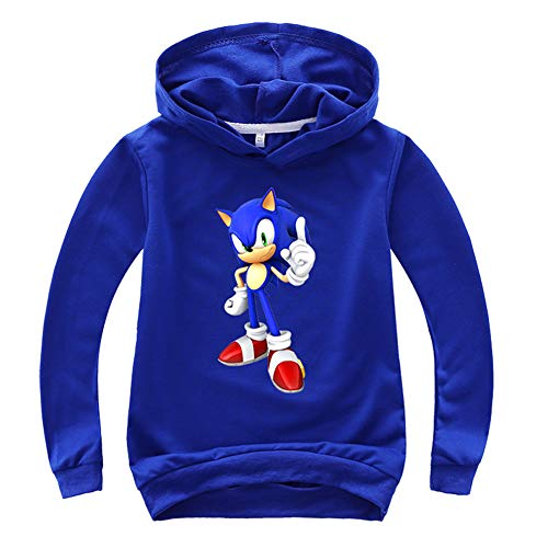 SUPFANS Kids Boys Sonic The Hedgehog Hoodie and Sweatpants Thin Sweatshirt and Pants Tracksuit