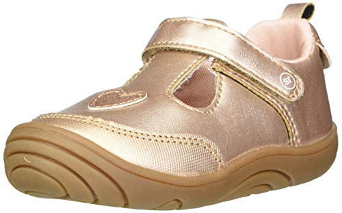 Stride Rite Girls Mariella Sneaker, Rose Gold,4 Little Kid