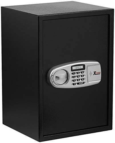 Xcase Tresore: Großer-Stahlsafe mit digitalem Code-Schloss und LCD-Display, 50 Liter (Kompakte Stahlsafes)
