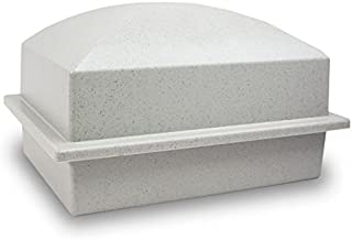 OneWorld Memorials Cremation Urn Vault Polymer Urn Vault for Burial - Extra Large Granite Grey Outdoor Burial Vaults