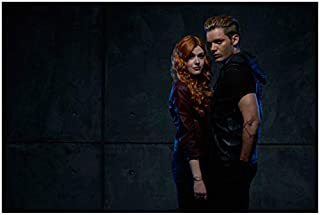 Shadowhunters: The Moral Instruments Katherine McNamara as Clary and Dominic Sherwood as Jace Standing Close Looking Sexy 8 x 10 Inch Photo