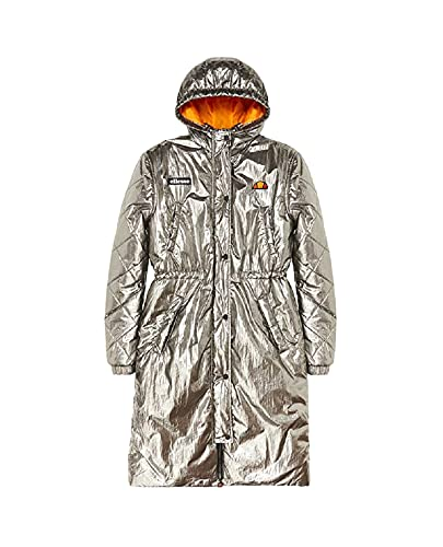 Ellesse Cervus Padded Jacket Chaqueta, Mujer, Silver, S