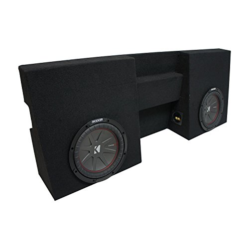 "Compatible with 2005-2015 Toyota Tacoma Double Cab Truck Kicker CompR CWR10 Dual 10"" Sub Box Enclosure - Final 2 Ohm"