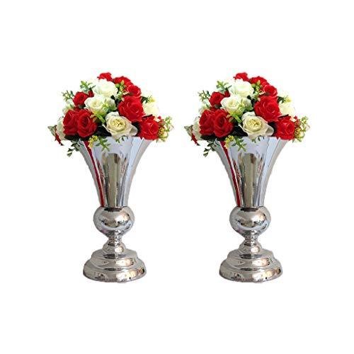 DaPeng Blumenständer, Chrom Schmiedeeisen Hochzeit Road Guide Blumentopf Home Blumenschmuck Rasen Romantische Dekoration Ornamente (OHNE Blumen) (größe : Zwei)