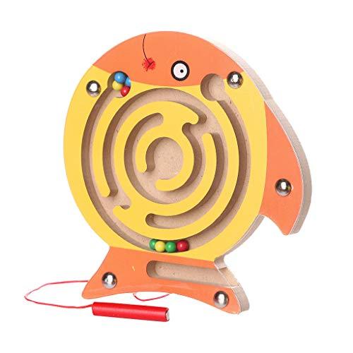 Spielzeug Mini Holz Labyrinth Brett Kinder Magnetic Maze Toys Kinder Holzspiel Spielzeug Holz Intellektuelles Puzzle Board Magnetisches Labyrinthspielzeug Maze Toys