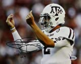 Johnny Manziel Signed Texas A&M 8x10 Money Photo w/12 HT- Beckett Auth Black