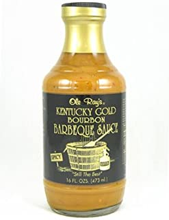 Ole Rays, Barbecue Sauce Kent Gold Bourbon, 16 Ounce