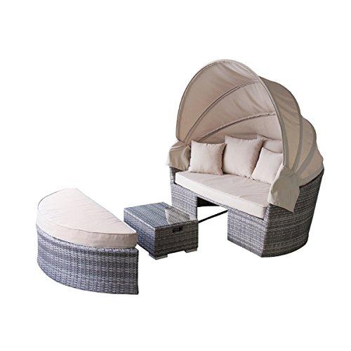 SEMI-AZ ソファーテーブルセット ラタン調 ガーデンソファーセット アジアン ソファーベッド 南国風 AZ-RKC-536