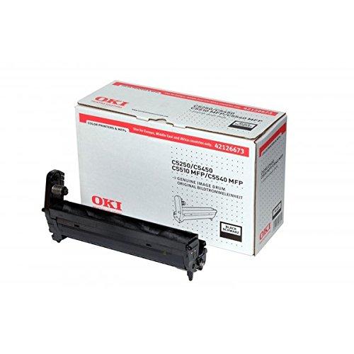 OKI 42126673 Trommeleinheit für Laserdrucker C5250 C5450 C5510 MFP C5540 MFP, schwarz