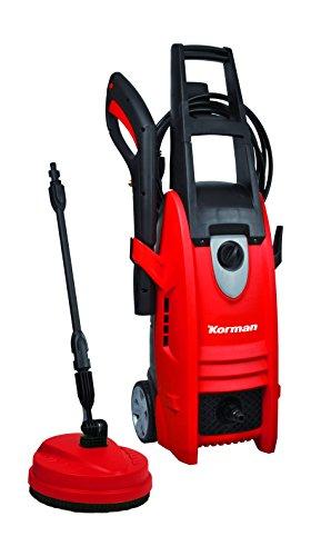 Korman 216100 Hidrolimpiadora 1800w 140 bares, 1800 W, 230 V, Rojo