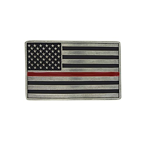 Montana Silversmiths Thin Line Flag Series (Red Line (Firefighters))