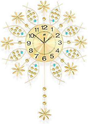 Imoerjia Creative Clocks Art Living Room Wall Clock Continental Rocking Mute Clock Quartz Clock Large 20