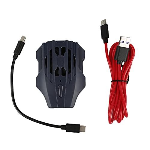 Refrigerador de teléfono móvil Refrigerador de refrigeración Soporte de la almohadilla de la almohadilla del soporte del soporte del soporte del radiador Smartphone Tableta USB Carga(para iPhone,2)