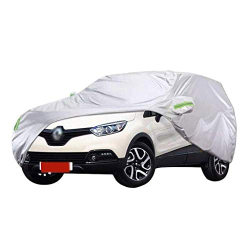 POLKMN Autoabdeckung, Auto Abdeckplane, Renault Captur SUV Dicker Oxford-Stoff für draußen Sonnenschutz Regendicht Warm Cover Indoor (Size : 2018)