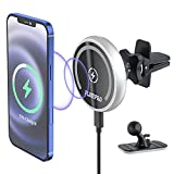 Magnetic Wireless Car Charger for iPhone 13/13Pro/ 13 Pro Max/ 13 Mini/iPhone12/12 Pro/ 12 Pro Max/12 Mini, MagSafe Case 15 W Wireless Car Phone Charger, Car Dashboard, and Air Vent Car Phone Holder