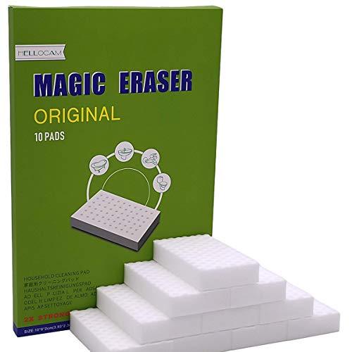 HELLOCAM Borrador magico Esponja Magica Almohadilla Quita Manchas - Natural Eco Blanca Puede ser Cortado a la Medida