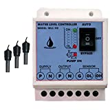 MICROTAIL Plastic Fully Automatic Water Level Controller with 3 sensor, Single Phase 230V AC (White)