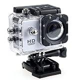 Riiai 2 mini cámara deportiva impermeable, 1080P Full HD cámara subacuática, cámara de acción deportiva DV, cámara de acción con lente gran angular y accesorios de montaje