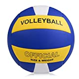 YANYODO Ballon de Volley,Ballon de Beach Volley Soft Touch pour Adultes et Enfants Officielle Taille 5