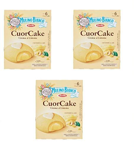 Zeus Party Box di Cuor Cake Mulino Bianco con Crema al Limone No Additivi No Conservanti Merenda Buona e Golosa (3 pacchi)