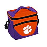 Logo Brands NCAA Clemson Tigers Unisex Adult Halftime Lunch Cooler Bag with Front Dry Storage Pocket and Shoulder Strap, One Size, Multicolor