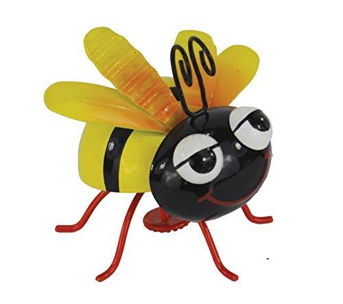 Imán de metal con diseño de abeja (8 cm)
