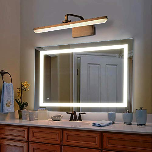 Reflexon 36 x 28 inch LED Lighted Vanity Bathroom Mirror, Wall Mounted + Anti Fog & Dimmer Touch Switch + UL Listed + IP44 Waterproof + 5500K Cool White +3000K Warm + CRI90 + Vertical&Horizontal