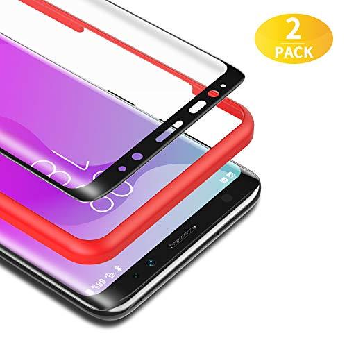 BANNIO für Panzerglas für Samsung Galaxy S8,[2 Stück] 3D Panzerglasfolie Schutzfolie für Samsung Galaxy S8 mit Positionierhilfe,9H Festigkeit,Anti Rayures,Blasenfrei,Anti-Kratzen,Schwarz
