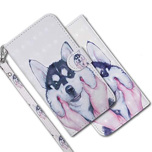 MRSTER Funda para Samsung Galaxy S5, 3D Brillos Carcasa Libro Flip Case Antigolpes Cartera PU Cuero Funda con Soporte para Samsung Galaxy S5. RX 3D Husky