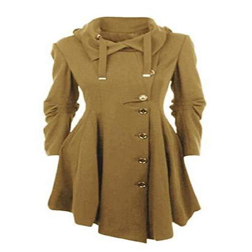 nobrand DamenTrenchcoat Damenmantel Windbreakerin Weiblich Langmantel Reißverschluss Button Goth Outwear