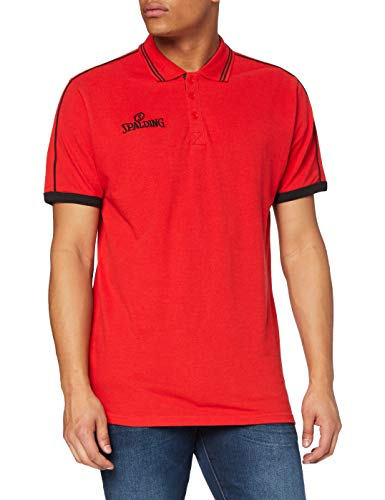 Spalding 3002797 Polo Homme Rouge/Noir FR : XXXXL (Taille Fabricant : XXXXL)