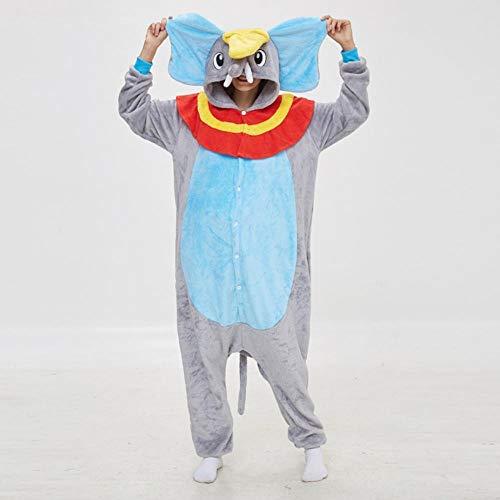FZH Pijama Kigurumi Esqueleto Jack Onesies Pijamas Unisex Adulto Pijamas Cosplay Disfraz Animal Onesie Ropa de Dormir-Dumbo Gris_L