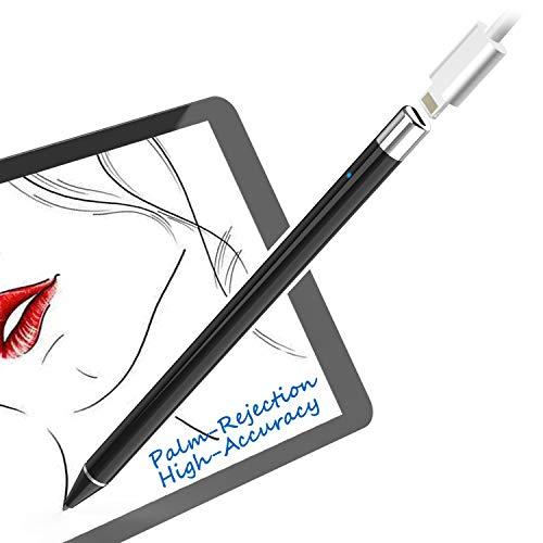 iPad Stift für Apple iPad 2018 und 2019,1 mm Kunststoffspitze, Handflächenabweisung, Pencil Kompatibel mit iPad Pro (3rd gen)/iPad Pro/iPad Air (3rd gen)/iPad Mini (5th gen)/iPad (6th gen)