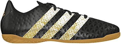 adidas Unisex-Kinder Ace 16.4 In J Fußballschuhe, Schwarz (Core Black/FTWR White/Gold Metallic), 34 EU