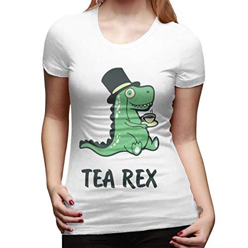 Top Groothandel Dames Mode Print Thee Rex Grappig Ontwerp Korte mouw T-Shirt