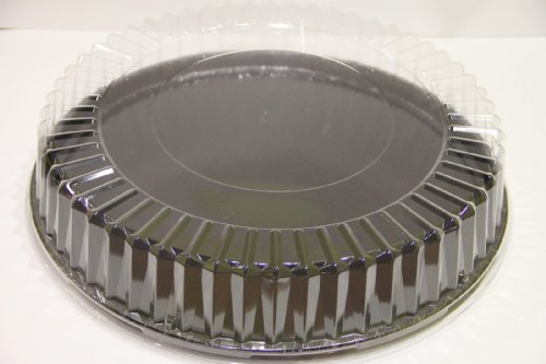 """Solut 05016 OPS Dome Lid, 18"""" Diameter x 3-1/2"""" Height, Clear, for All 18"""" Catering Trays (Case of 25)"""