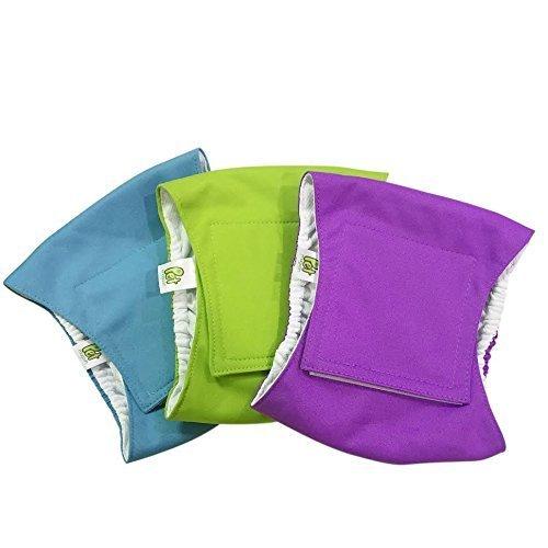 PET MAGASIN Windeln für männliche Hunde, Blau, Grün und Violett, 3 Stück (M)