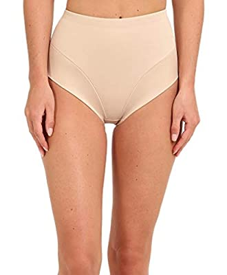 Miraclesuit Shapewear Women's Extra Firm Comfort Leg Waistline Brief Nude Large