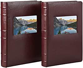 Old Town Bonded Leather Photo Album, 2 Pack (3Up, Burgundy)