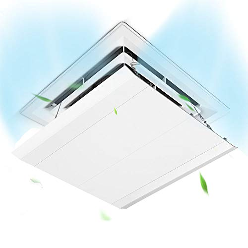 Deflector de aire acondicionado central de techo, deflector de aire acondicionado cuadrado, deflector de salida de aire de aire acondicionado de techo, adecuado para el hogar, dormitorio, oficina