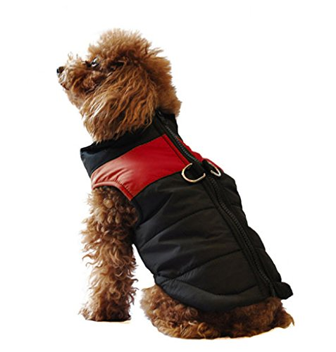 ubest Hundemantel wasserdichte Winterjacke mit D-Ring Warm Regenmantel gepolstert Puffer Weste, 20