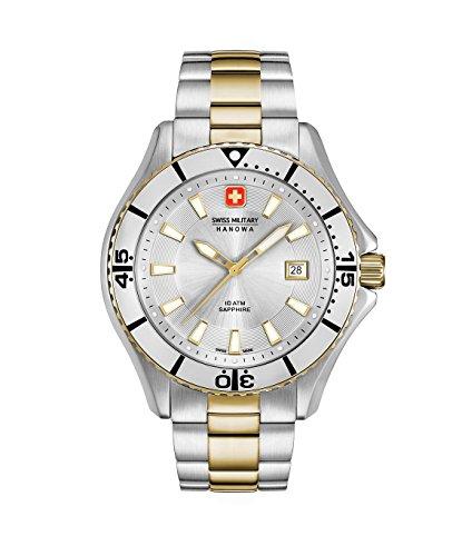 Swiss Military Hanowa Herren Analog Quarz Uhr mit Edelstahl Armband 06-5296.55.001