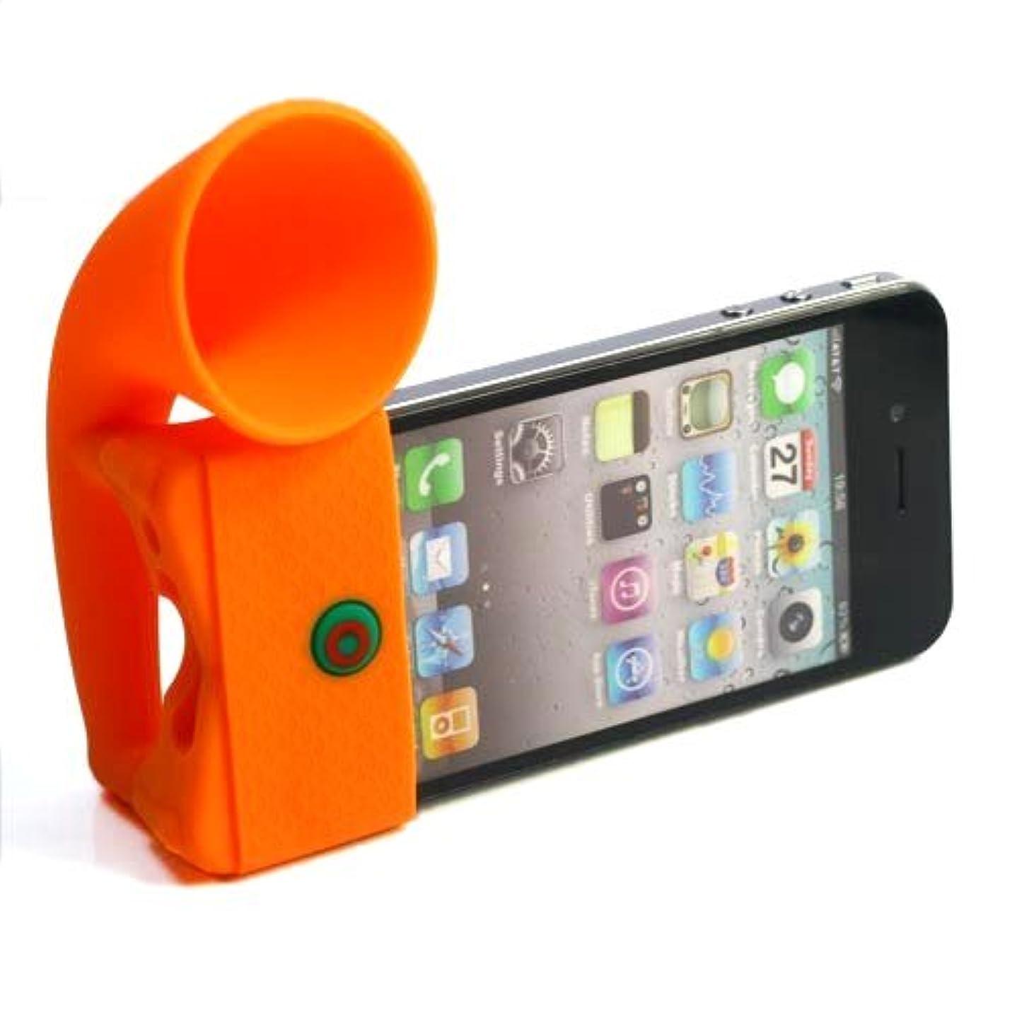 ソーセージ委員会期限切れ【全12色】電源不要のアンプ型スタンド iPhone 4用Horn Stand オレンジ Horn Stand for iPhone 4 (1418-1)