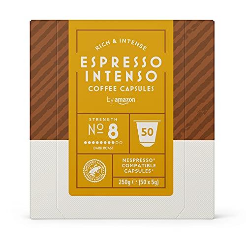by Amazon Espresso-Intenso-Kaffeekapseln, passend für Nespresso, 50Kapseln