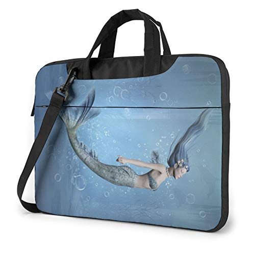 3D Beautiful Underwater Fish Print Laptop Sleeve Compatible with 13-15.6 Inch, Notebook Computer Briefcase Bag
